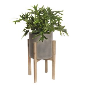 Greywash Planter with Stand