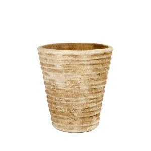 Ribbed Conical Pot