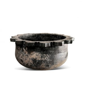 Woodfired Scalloped Pot