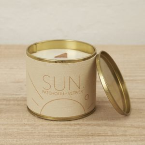 Brass Tin Candle Sun